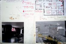 He Named Her Amber - Projectbook II: Photocopies, notes and drawings about possible excavation-sites in the 1817s Kitchen, 2008