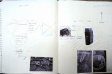 He Named Her Amber - Projectbook II: Photocopies, stamp-prints, notes and sketches, 2008