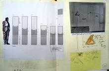He Named Her Amber - Projectbook III: Technical drawing, notes and sketches for the construction of showcases for retrieved artefacts in the Library, 17 August 2008