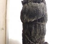 JW Suspended Knit object covered in plaster and wax
