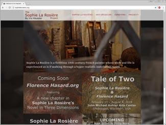 Sophie La Rosière Project website preview